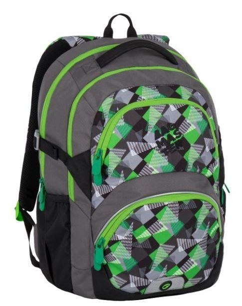 Školní batoh THEORY 7 B GREEN GREY 45a1a18e48