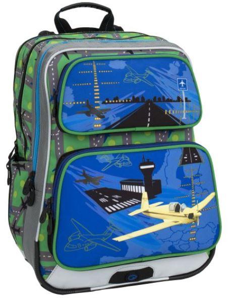 Školní batoh GALAXY 6 D BLUE/GREEN/WHITE