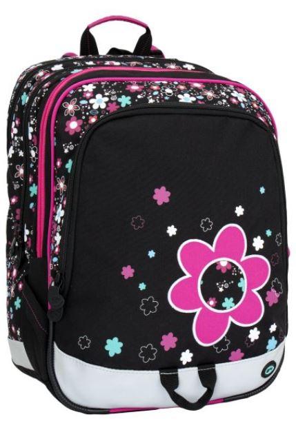 Školní batoh ALFA 6 B BLACK/PINK/VIOLET