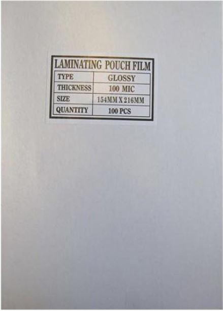Fólie laminovací, A3, 30cm, 100mic, transparentní, No Name, antistatická, 100ks