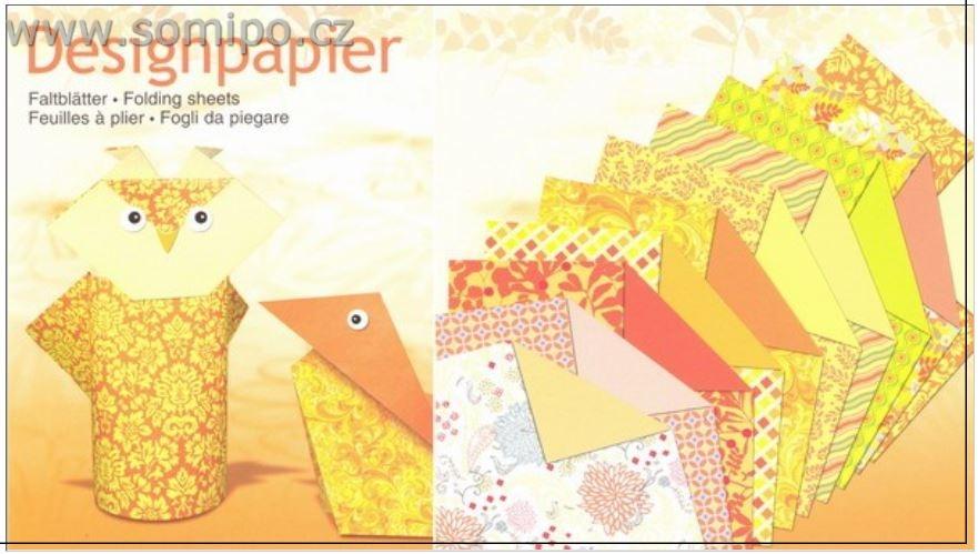Design papír 100g/50ar-20x20cm-CITRINE-žlutý