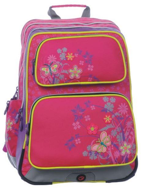 Dívčí školní batoh GOTSCHY 0115 B PINK/FLOWERS