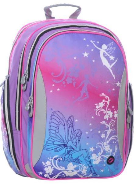 Dívčí školní batoh Bagmaster EV08 0115 A PINK/VIOLET/BLUE