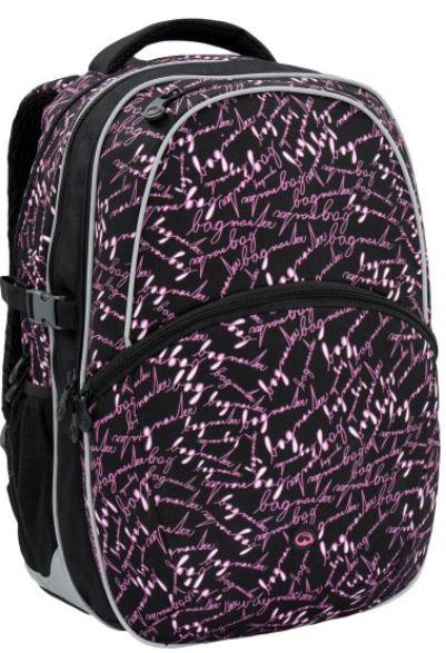Školní batoh MADISON 6 A BLACK/PINK
