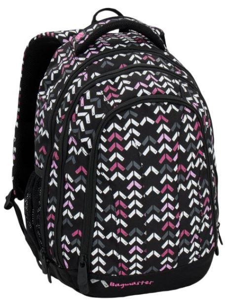 Studentský batoh SUPERNOVA 6 C BLACK/PINK/WHITE