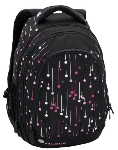 Studentský batoh SUPERNOVA 6 A BLACK/PINK/WHITE
