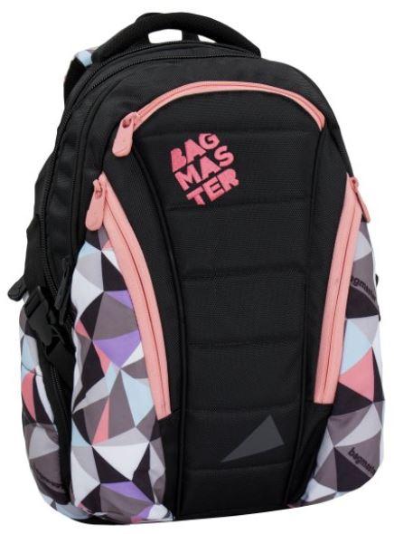 Studentský batoh BAG 6 B BLACK/PINK/BLUE