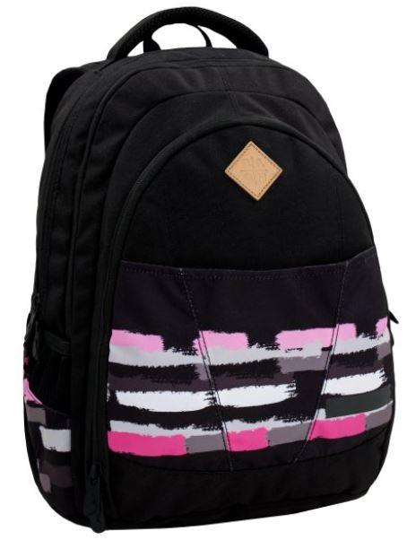 Studentský batoh DIGITAL 6 A BLACK/PINK/GREY