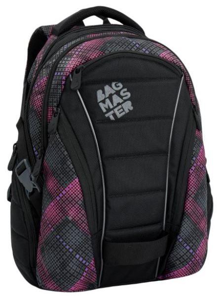 Studentský batoh BAG 6 E BLACK/PINK/VIOLET