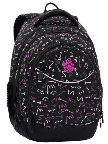 Studentský batoh ENERGY 6 D BLACK/PINK