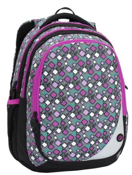 Školní batoh MAXVELL 6 A GREY/PINK/BLUE