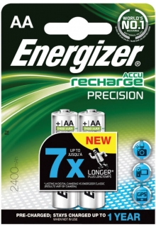 Energizer Recharge Precision AA, NiMh 2400mAh AA (HR6) - balení 2ks