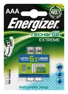 Energizer Recharge Extreme AAA, HR, 1, 2 V, 800mAh, 2 ks