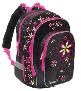 Školní batoh ERGO fashion kytky empty 6f1e186320