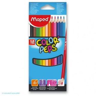 Pastelky Maped Color´Peps 12ks